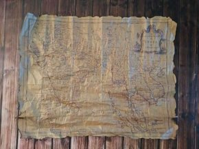 Replika staré námořní mapy  003