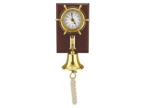 Lodní hodiny s lodním zvonem