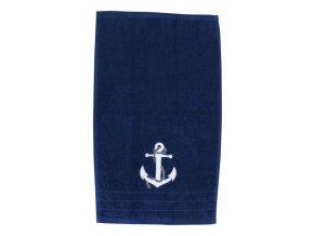 Ručník modrý s kotvou 30x50cm