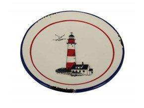 Keramický talířek malý - motiv maják