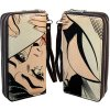 wallet retro double zipper 022