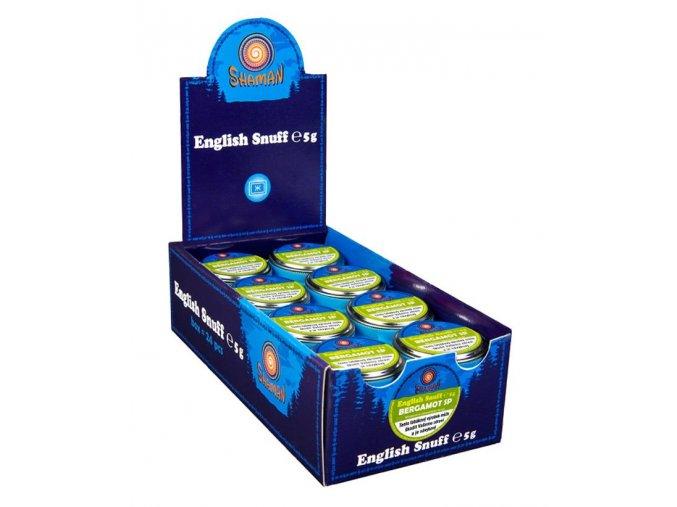 24 x English Snuff Bergamot SP 5g + 5ks zdarma