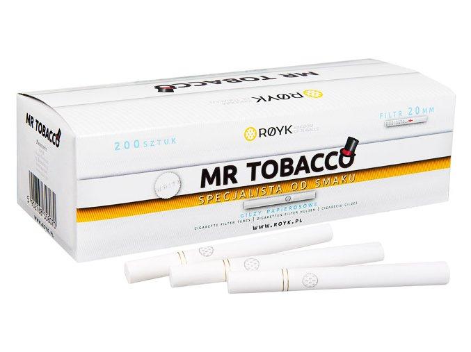 Bílé dutinky MR TOBACCO 200 - filtr 20mm