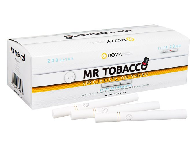 Bílé dutinky MR TOBACCO 200ks - filtr 20mm