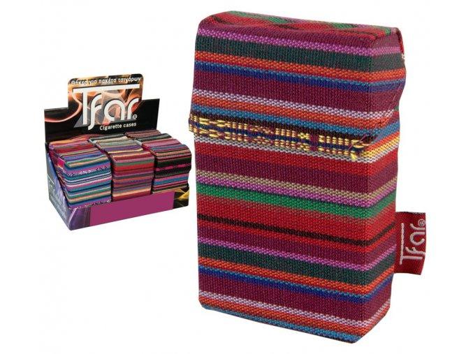 Textilní pouzdro na cigarety LINES TEXTILE  PATTERN 09