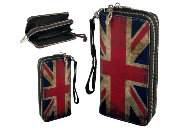 wallet retro double zipper 043