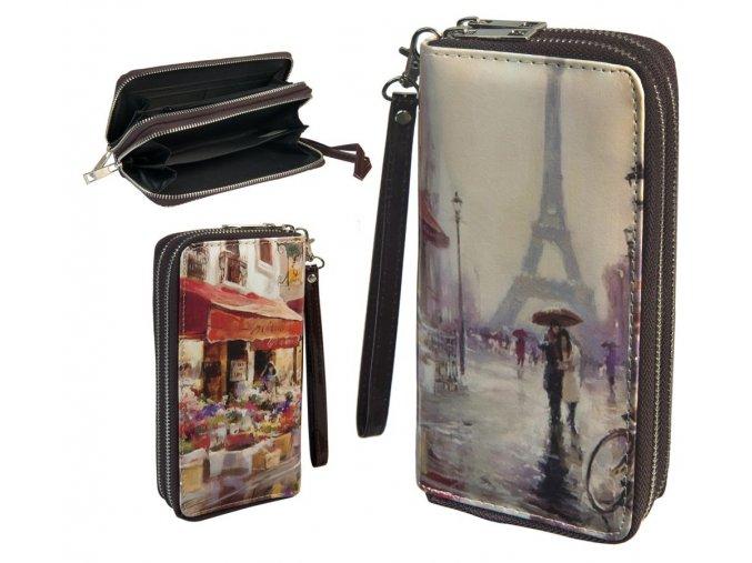 wallet retro double zipper 033