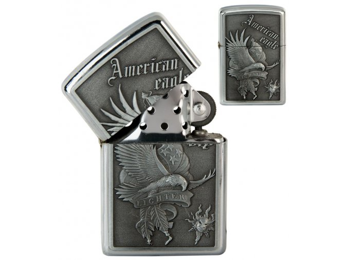 oil lighter american eagle silver 042