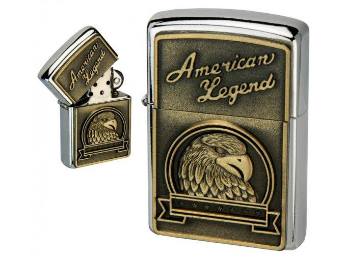 oil lighter american eagle golden plate 042