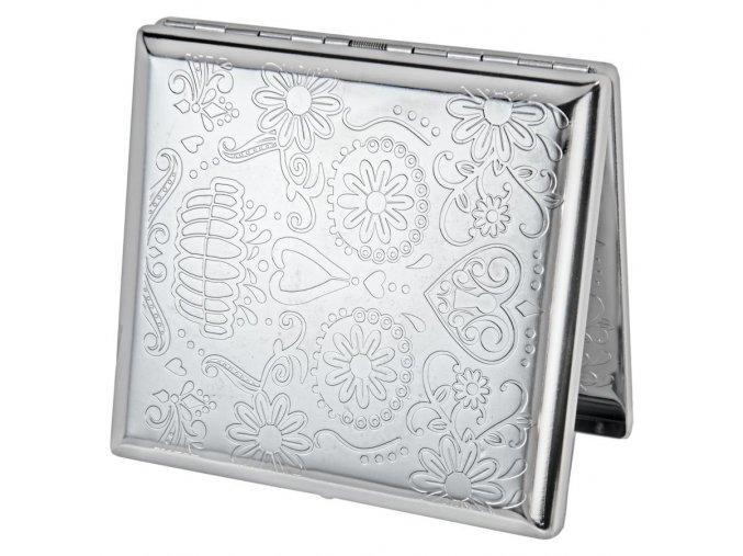 case lighter silver skul 01