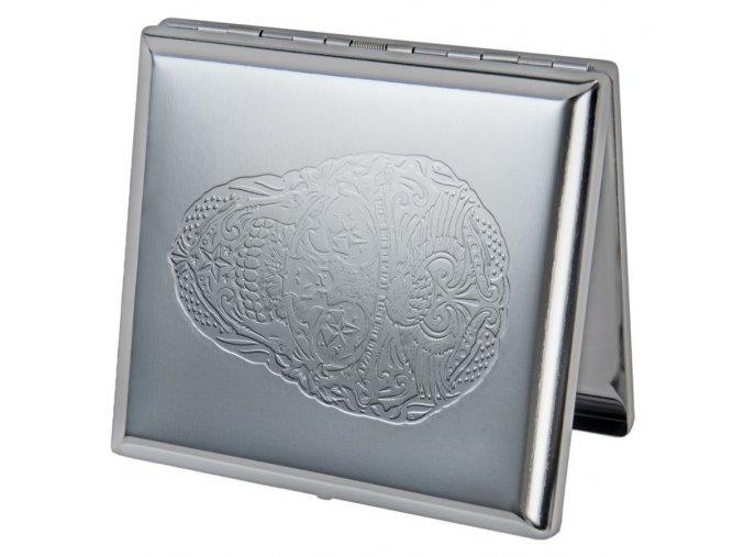 case lighter silver skul 02