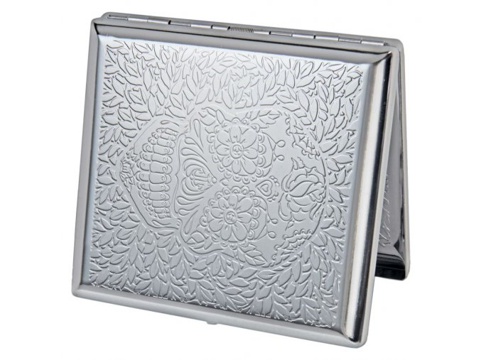 case lighter silver skul 03