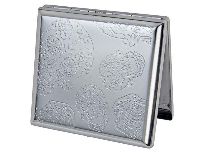 case lighter silver skul 04