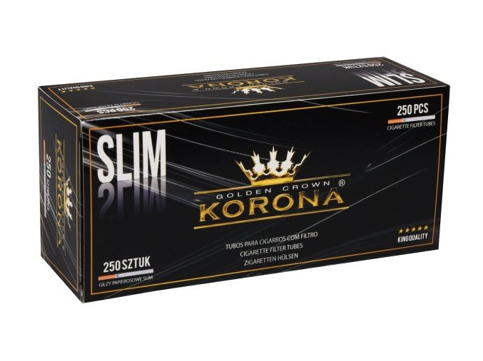korona slim 250ks cigaretove dutinky