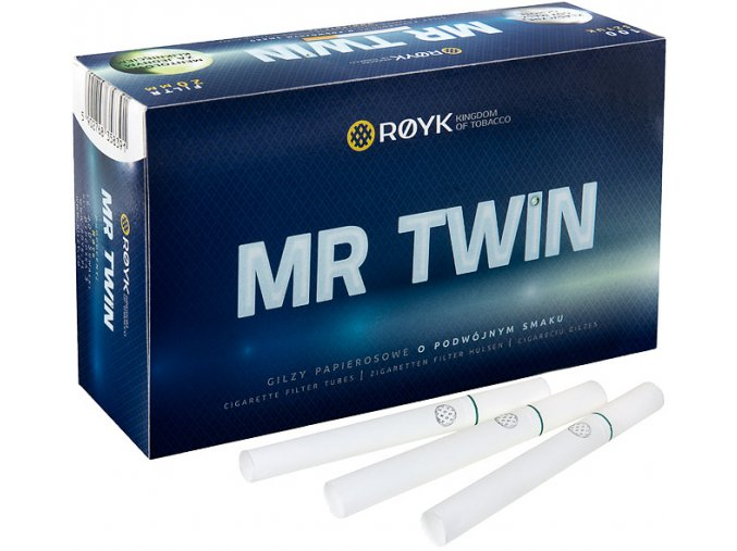 Práskací dutinky MR TWIN MENTHOL - filtr 15mm!