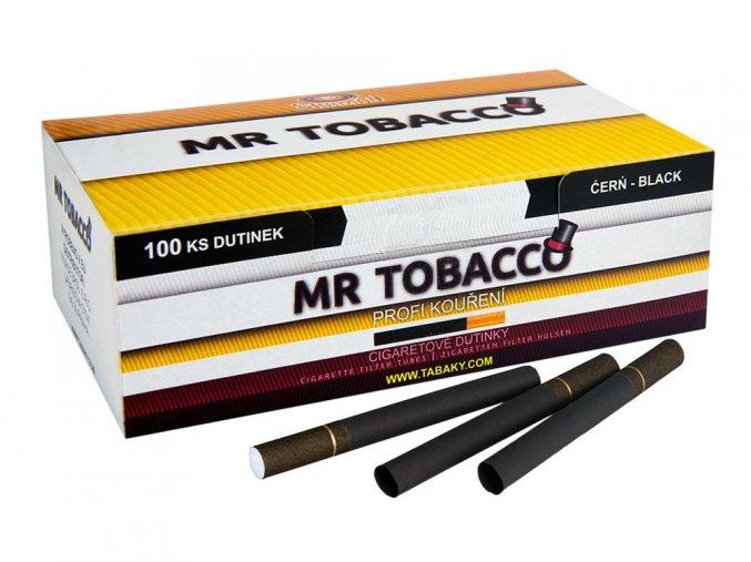 Černé dutinky MR TOBACCO 100 (stejné filtry jako Marlboro)