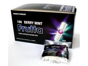 Box (20x) Práskací SLIM FILTRY FRUTTA BERRY MINT 6mm 100ks
