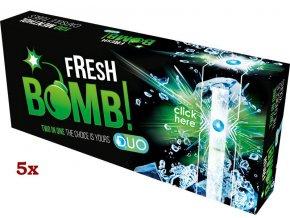 Práskací dutinky FRESH BOMB MENTHOL - filtr 20mm! (5x)