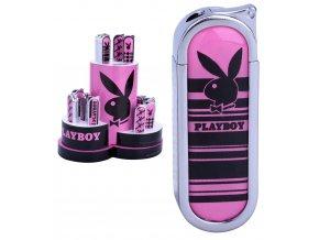 Zapalovač PLAYBOY PINK & BLACK 04
