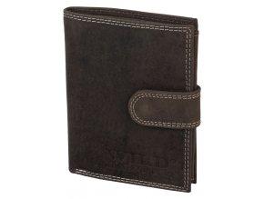 Kožená peněženka HIGH WILD DARK BROWN
