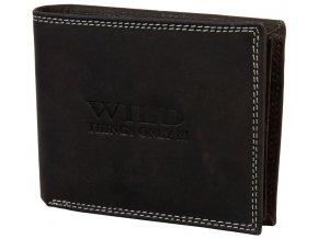 Kožená peněženka LOW WILD DARK BROWN