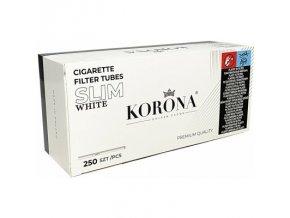 Bílé SLIM dutinky Korona 250 WHITE - filtr 18mm