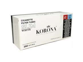 Bílé SLIM dutinky Korona 250 WHITE