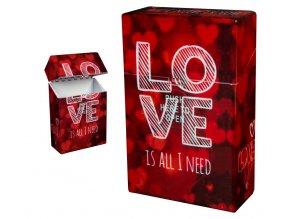 Cigaretové pouzdro s auto otevíráním LOVE HEARTS 02