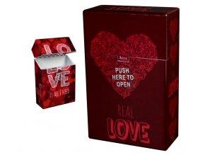 Cigaretové pouzdro s auto otevíráním LOVE HEARTS 03