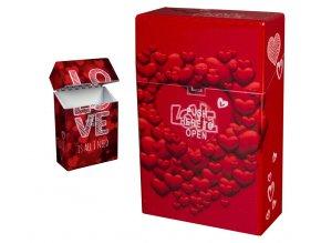 Cigaretové pouzdro s auto otevíráním LOVE HEARTS 04