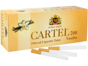 Ochucené dutinky CARTEL 200 VANILLA