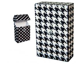 Cigaretové pouzdro s auto otevíráním BLACK & WHITE 01