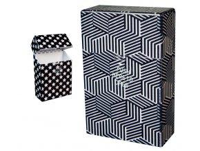 Cigaretové pouzdro s auto otevíráním BLACK & WHITE 04