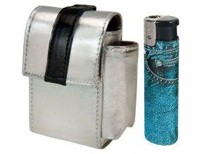 Cigaretové pouzdro 03 + zapalovač JEANS TURBO JET