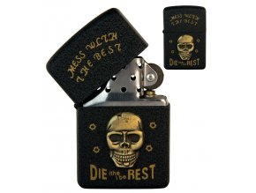 oil lighter black skull 022