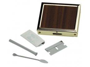 wooden box silver