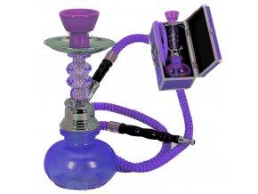 Mini Hookah violet 25cm + kufřík violet