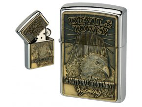oil lighter american eagle golden plate 022