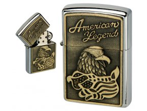 oil lighter american eagle golden plate 032