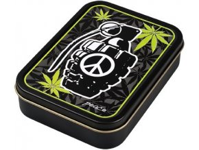 Hranatá krabička na tabák PEACE 02
