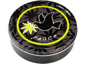 Kulatá krabička na tabák PEACE 03
