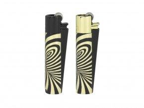 8459 kovovy zapalovac clipper psychedelic gold zlaty