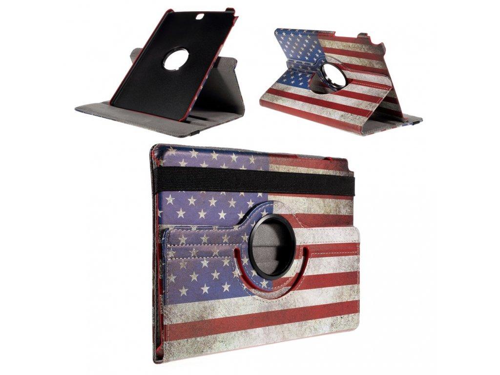 Pouzdro s americkou vlajkou pro Samsung Galaxy Tab A 9.7 T550 T555