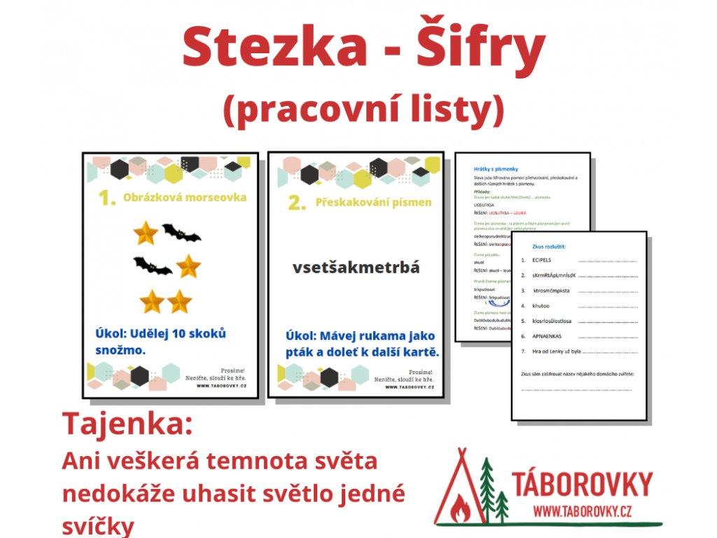 Stezka - šifry a pracovní listy