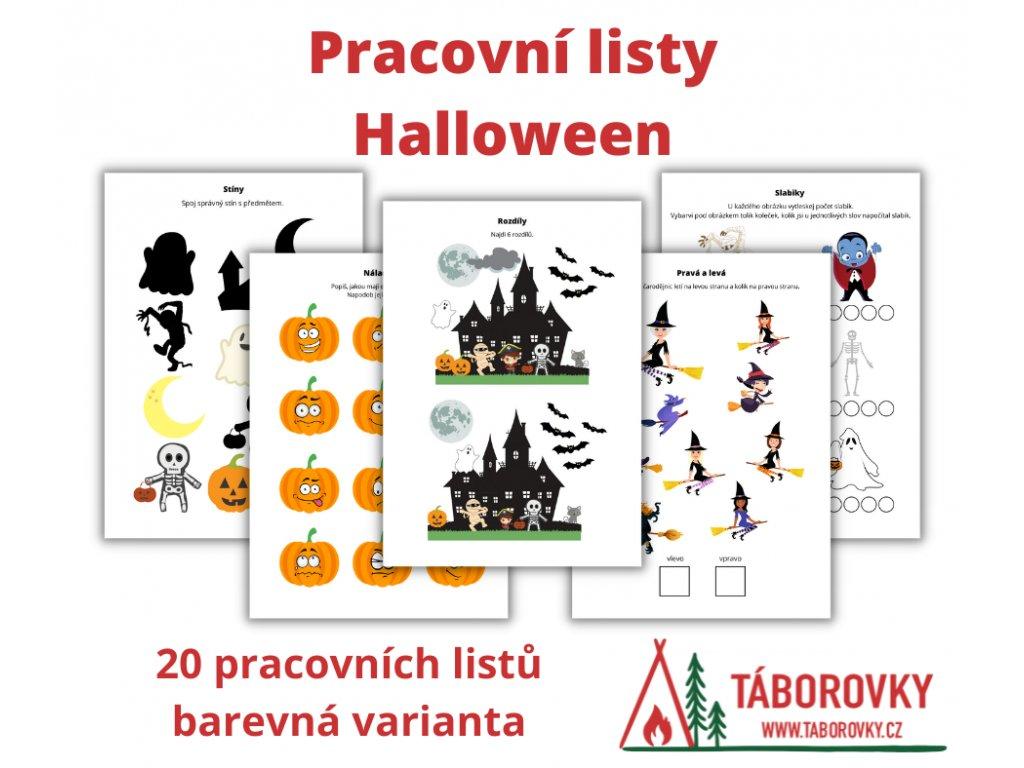 Pracovní listy Halloween - barevné