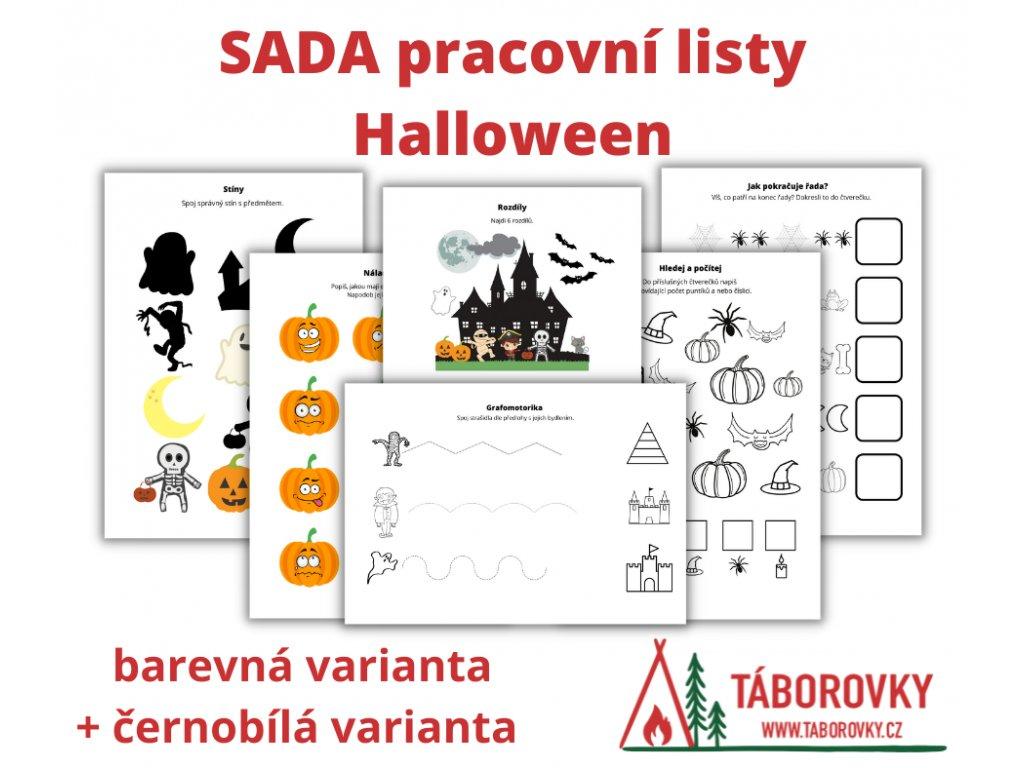 SADA pracovní listy Halloween