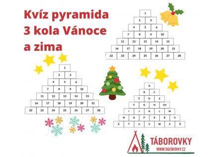 Kvíz pyramida 3 kola Vánoce a zima