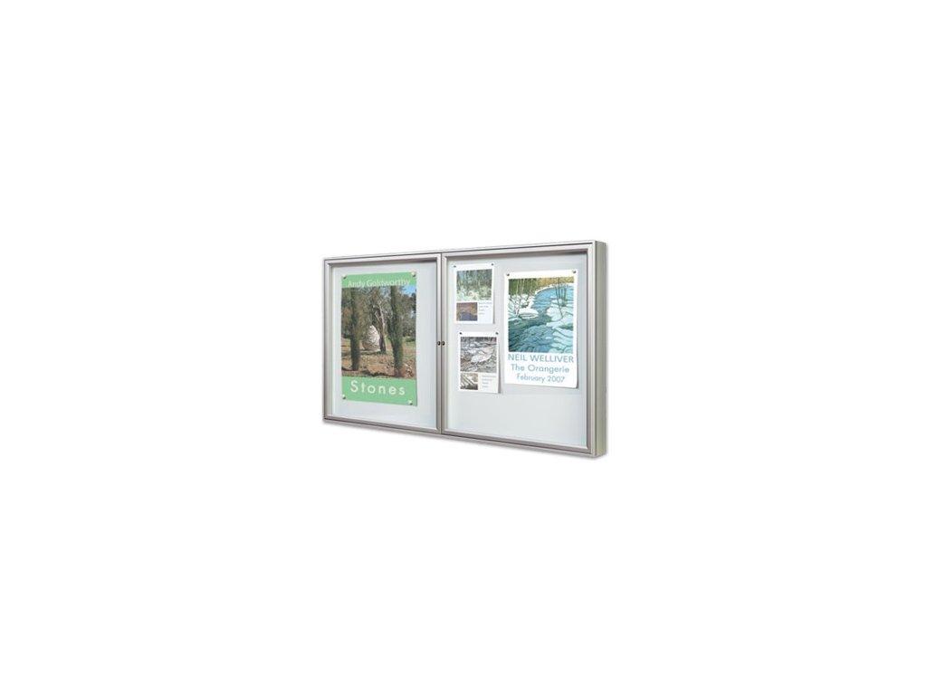 Venkovní vitrína 1000 dvoukřídlá