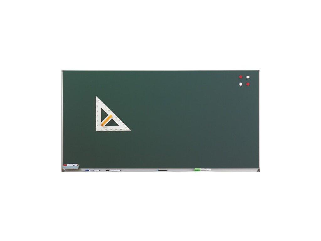 Zelená školní tabule na křídu na stěnu