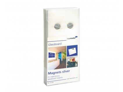 Sada 6 ks neodymových extra silných magnetů Legamaster.
